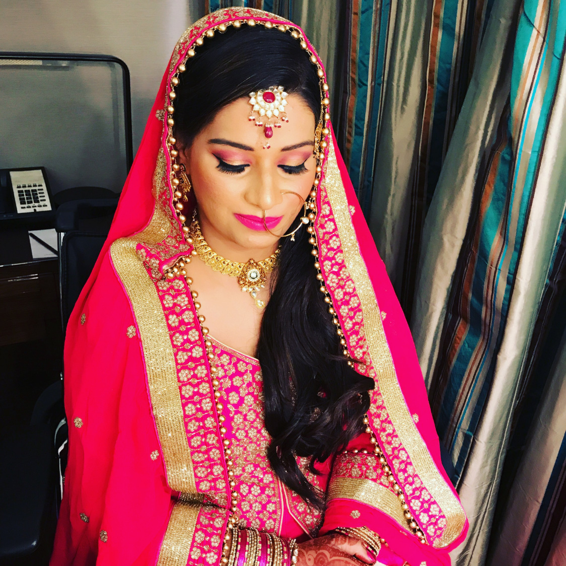 Love every detail of shell-pink! by Richa Malik Bridal-makeup | Weddings Photos & Ideas