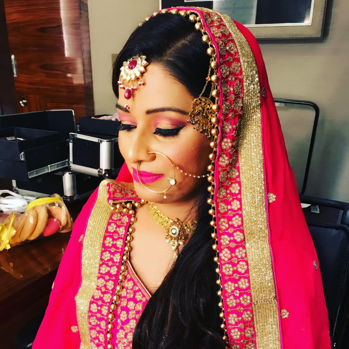 A rosy closeup! by Richa Malik Bridal-makeup   Weddings Photos & Ideas