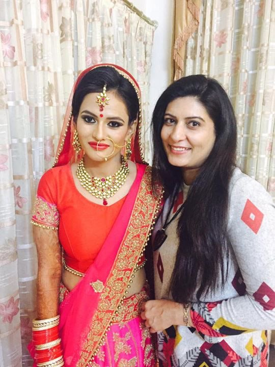 Richa malik with the bride by Richa Malik Bridal-makeup | Weddings Photos & Ideas