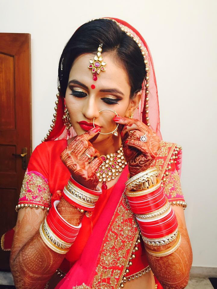 All ritzy! by Richa Malik Bridal-makeup | Weddings Photos & Ideas