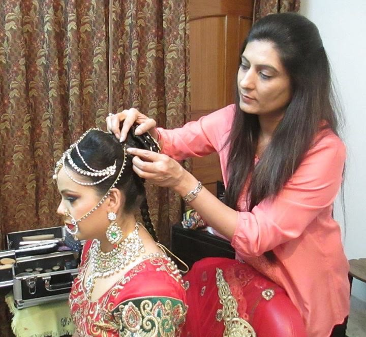 Makeup artist styling her hair by Richa Malik Wedding-photography | Weddings Photos & Ideas
