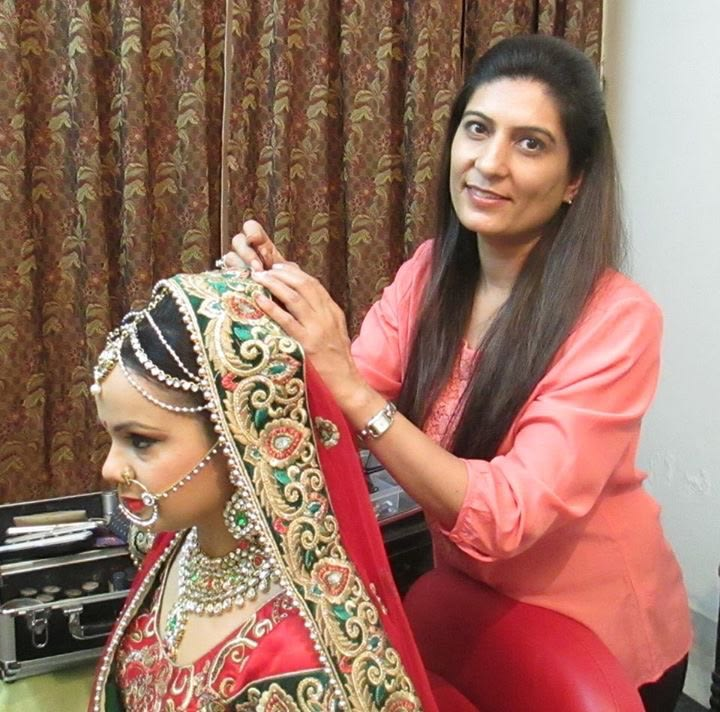 Makeup artist grooming our bride by Richa Malik Wedding-photography | Weddings Photos & Ideas