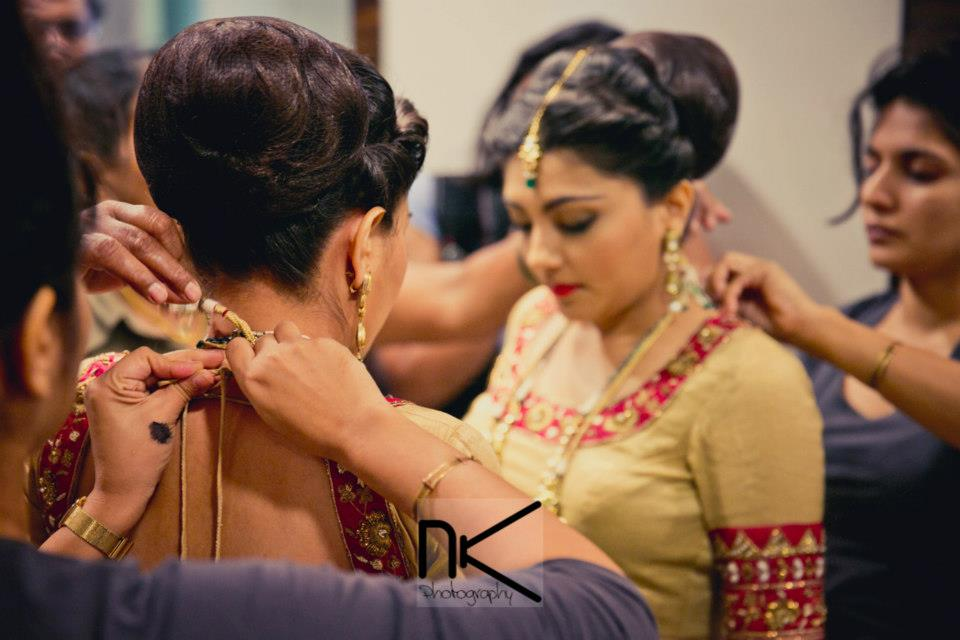 The bride gets dressed up for the best by Nikhil Kapur Photography Wedding-photography | Weddings Photos & Ideas