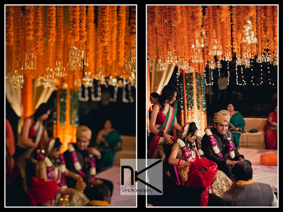 The couple braces for the ceremony by Nikhil Kapur Photography Wedding-photography | Weddings Photos & Ideas