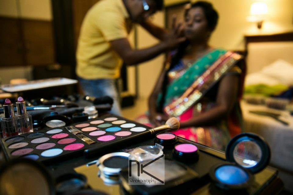 Makeup in full swing by Nikhil Kapur Photography Wedding-photography   Weddings Photos & Ideas