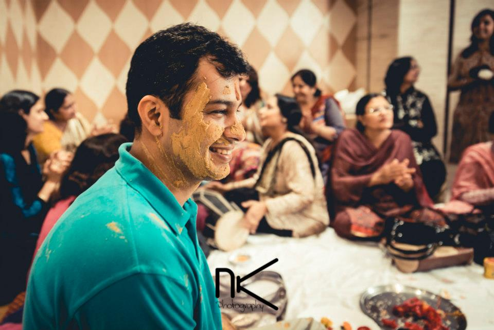 Use of haldi at its best by Nikhil Kapur Wedding-photography | Weddings Photos & Ideas