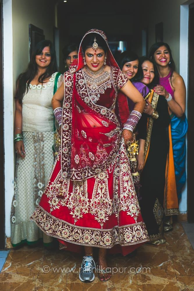 Posing With The Bridesmaids by Nikhil Kapur Wedding-photography | Weddings Photos & Ideas