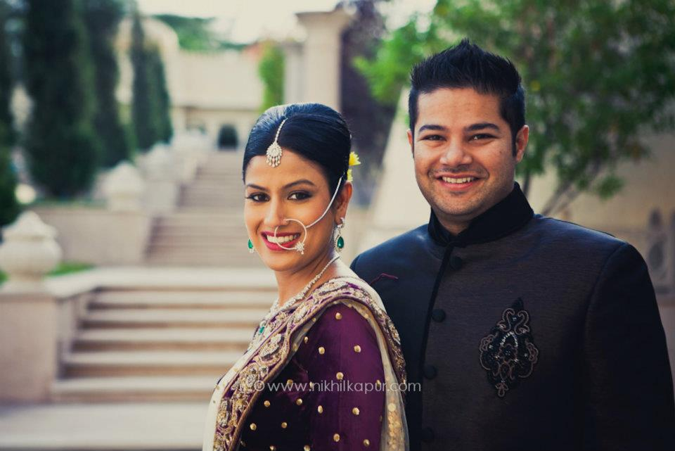 The couple poses for the day by Nikhil Kapur Photography Wedding-photography | Weddings Photos & Ideas