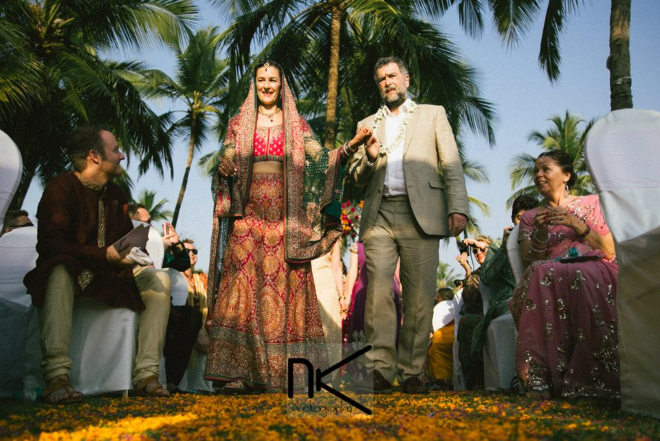 Bride Walking Down the Aisle by Nikhil Kapur Photography Wedding-photography | Weddings Photos & Ideas