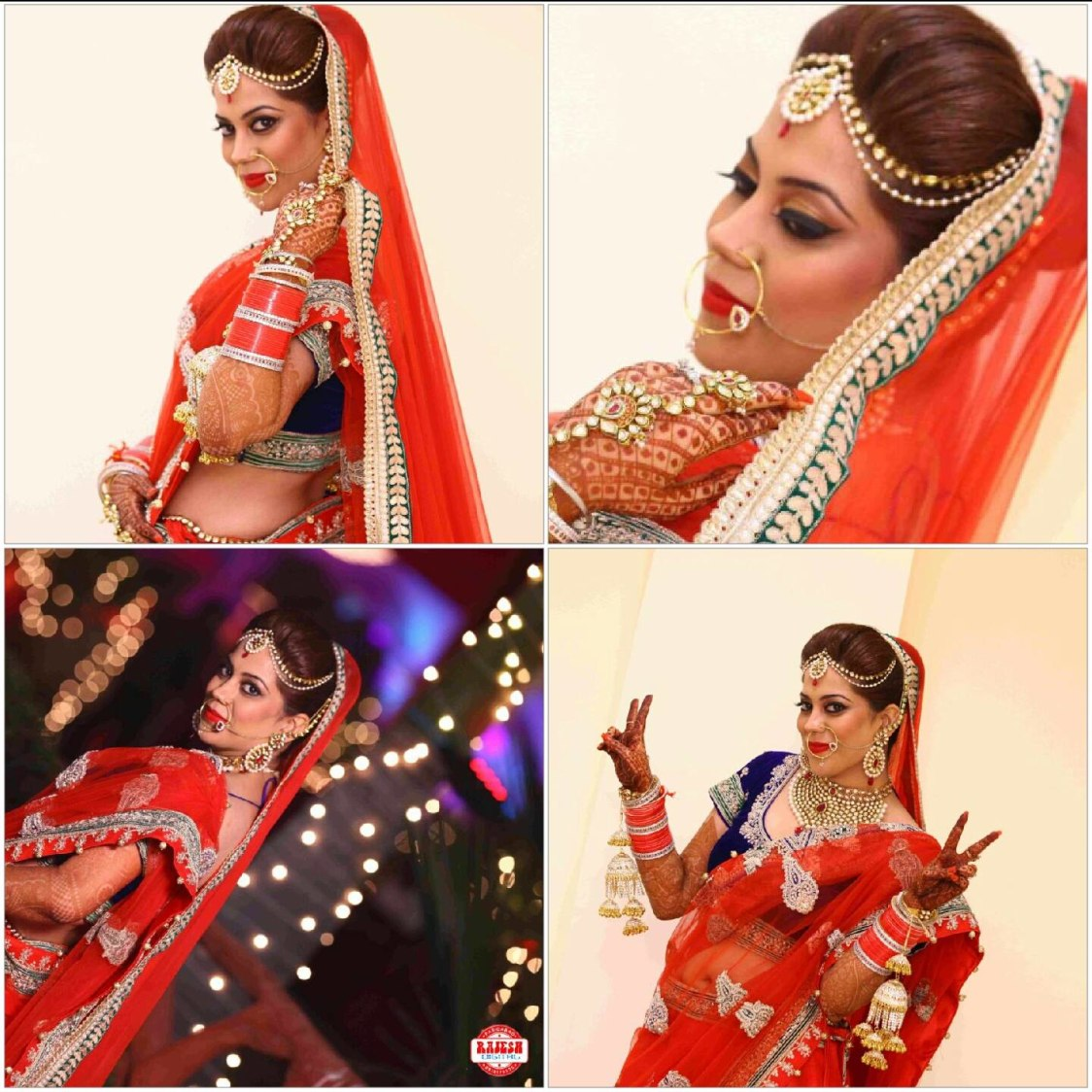 Gorgeous bride on her wedding day by Nishi Singh Bridal-makeup | Weddings Photos & Ideas