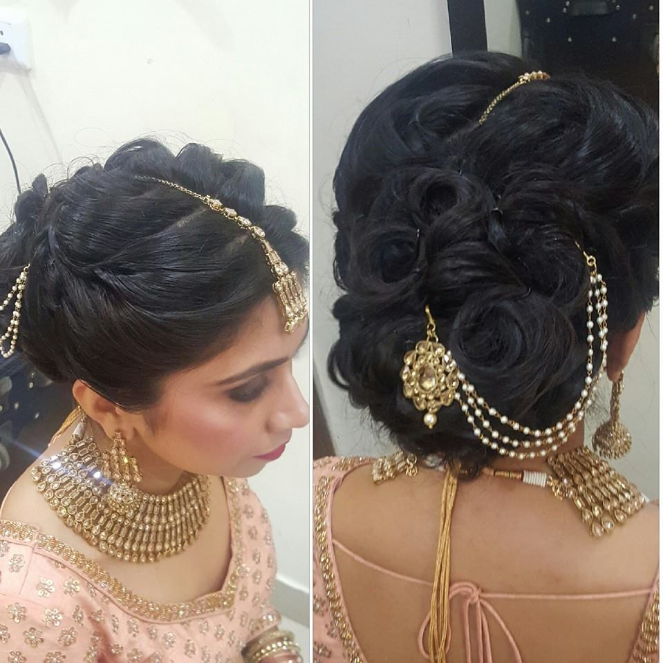When it is your wedding, just any hairdo won't go! by Nishi Singh Bridal-makeup | Weddings Photos & Ideas