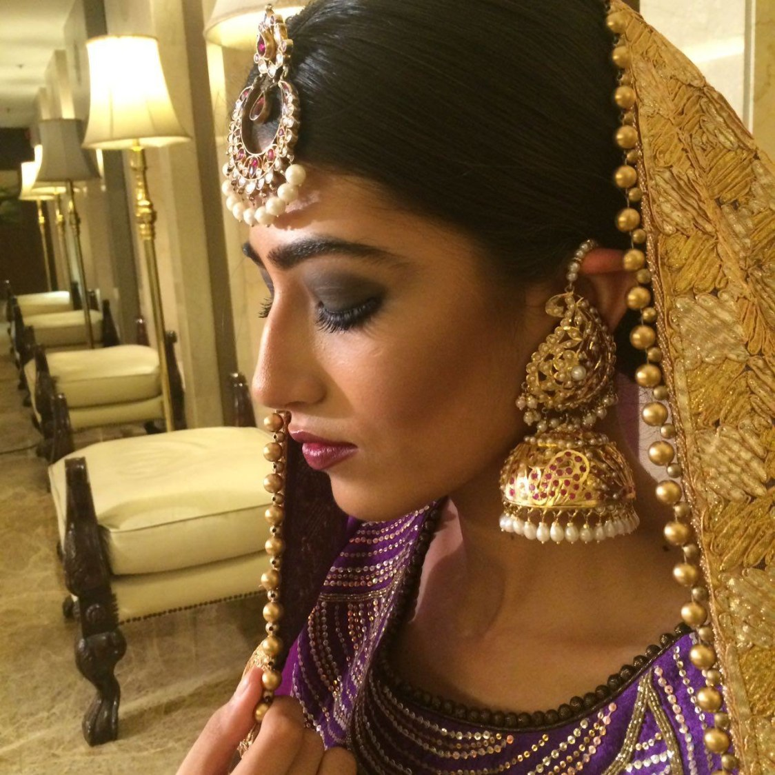Dark eye shadows never go wrong! by Nishi Singh Bridal-makeup | Weddings Photos & Ideas
