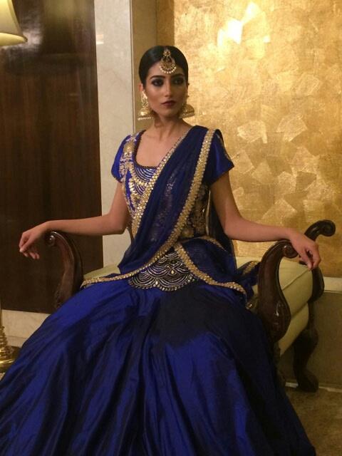 Bride in blue by Nishi Singh Bridal-makeup | Weddings Photos & Ideas