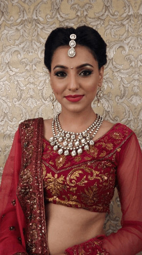 Wine color prettifying her beauty! by Nishi Singh Bridal-makeup | Weddings Photos & Ideas
