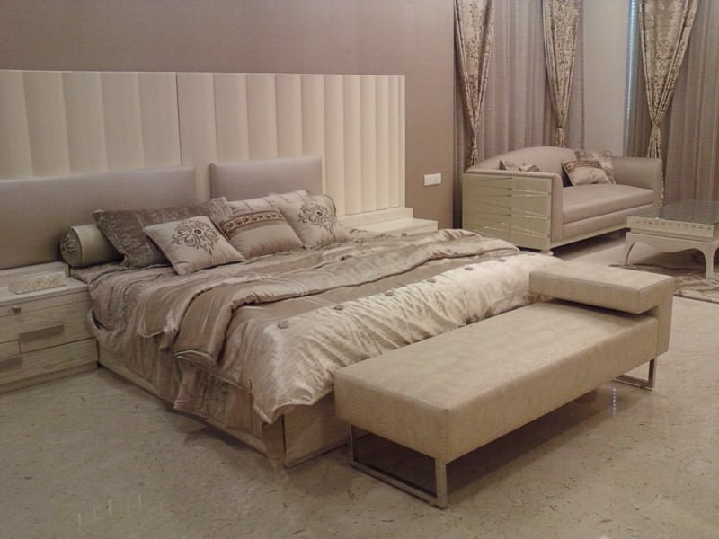 Beige Shade Interior In Bedroom by Khayati Bedroom Contemporary | Interior Design Photos & Ideas