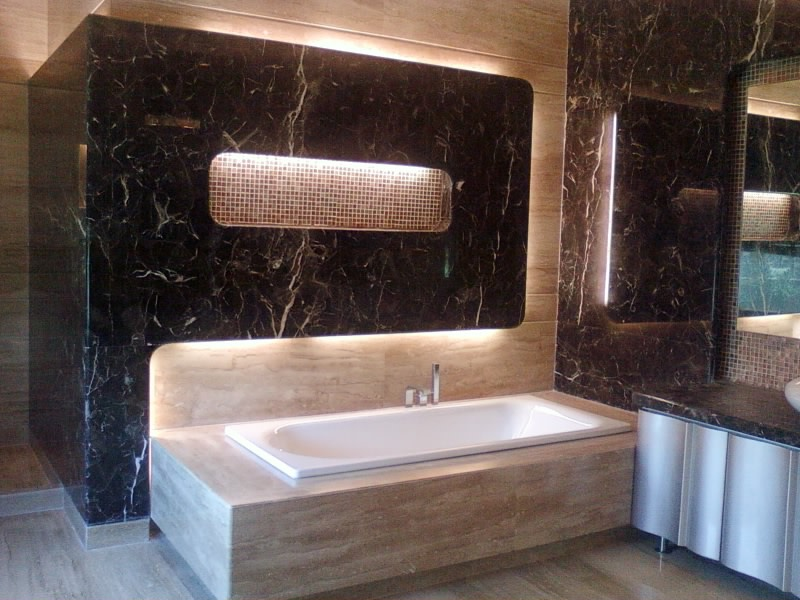 Built In Tub In Bathroom by Khayati Bathroom Contemporary | Interior Design Photos & Ideas