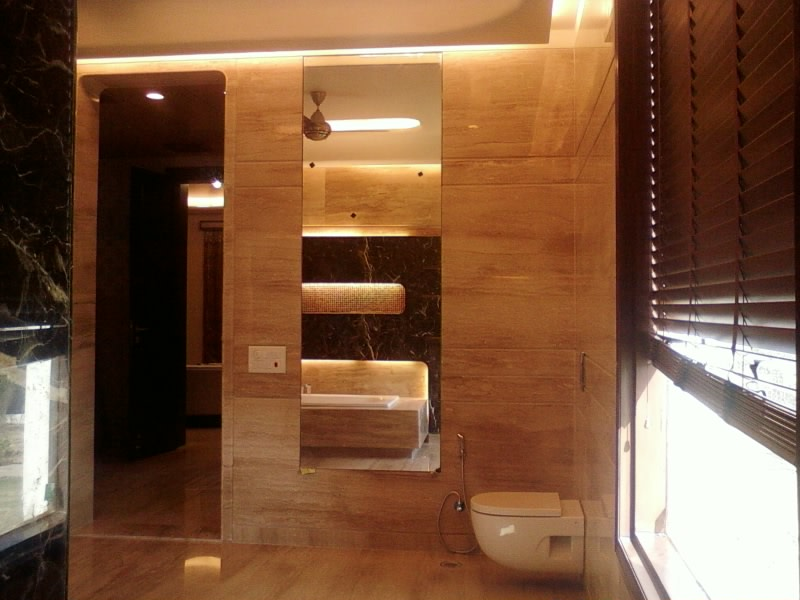 Limestone Furnishing In Bathroom by Khayati Bathroom Contemporary | Interior Design Photos & Ideas