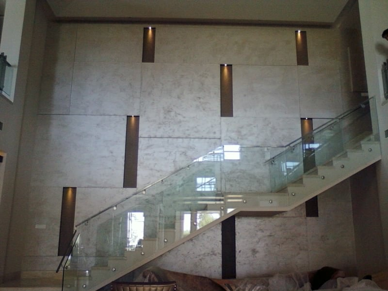 Staircase With Glass Work by Khayati Indoor-spaces Contemporary | Interior Design Photos & Ideas