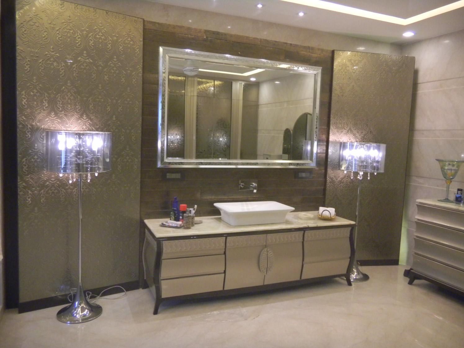 Modern Style Lamp In Bathroom by Khayati Bathroom Contemporary   Interior Design Photos & Ideas