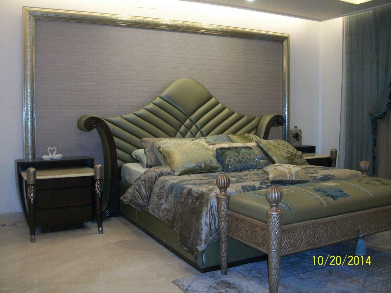 Royal Bed In Bedroom by Khayati Bedroom Contemporary | Interior Design Photos & Ideas