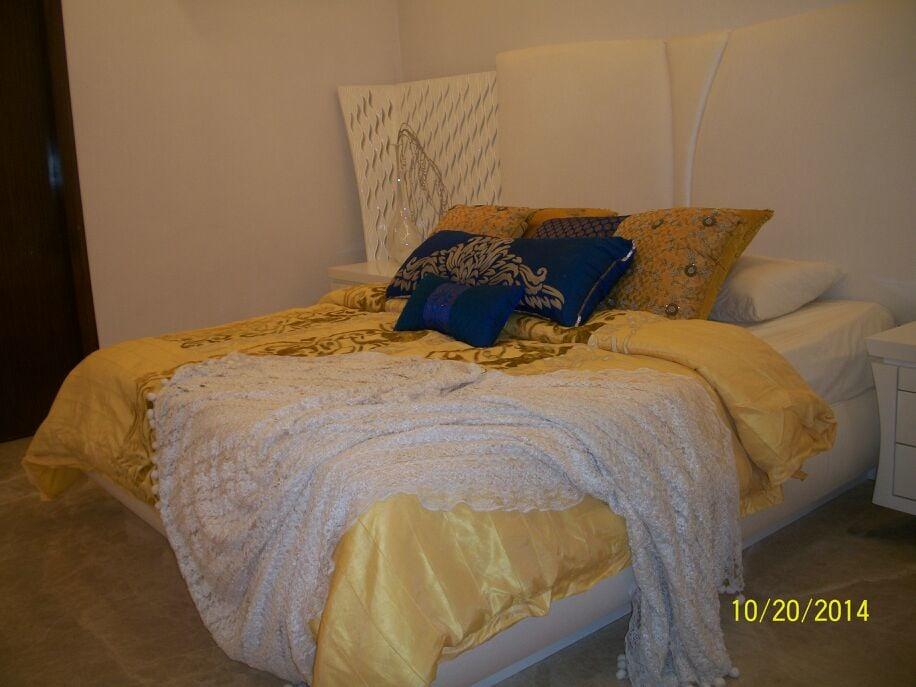 Bedroom With Designer Bed by Khayati Bedroom Contemporary | Interior Design Photos & Ideas
