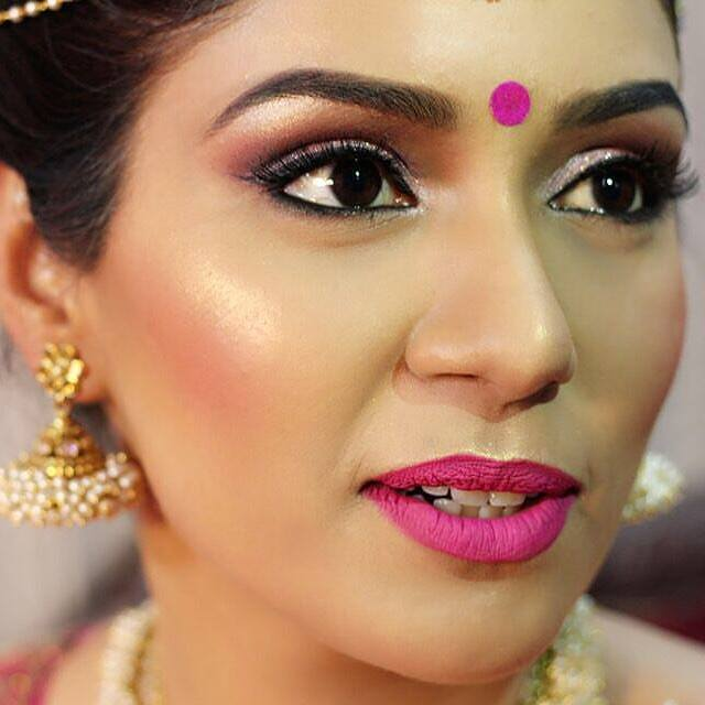 Zoom in the pink! by Pooja Sonik Shukla Bridal-makeup | Weddings Photos & Ideas