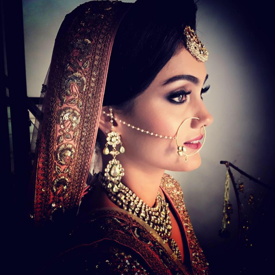 Outrightly bold by Pooja Sonik Shukla Bridal-makeup | Weddings Photos & Ideas