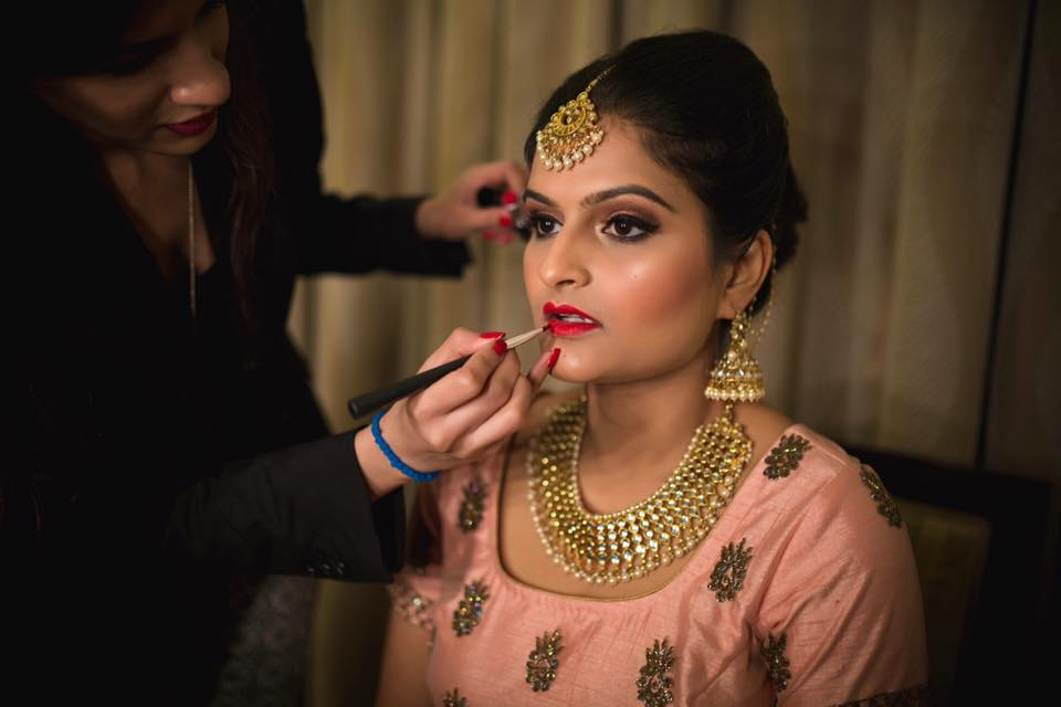 statement neckpiece and jhoomki by Ayushi Tayal Bridal-makeup | Weddings Photos & Ideas