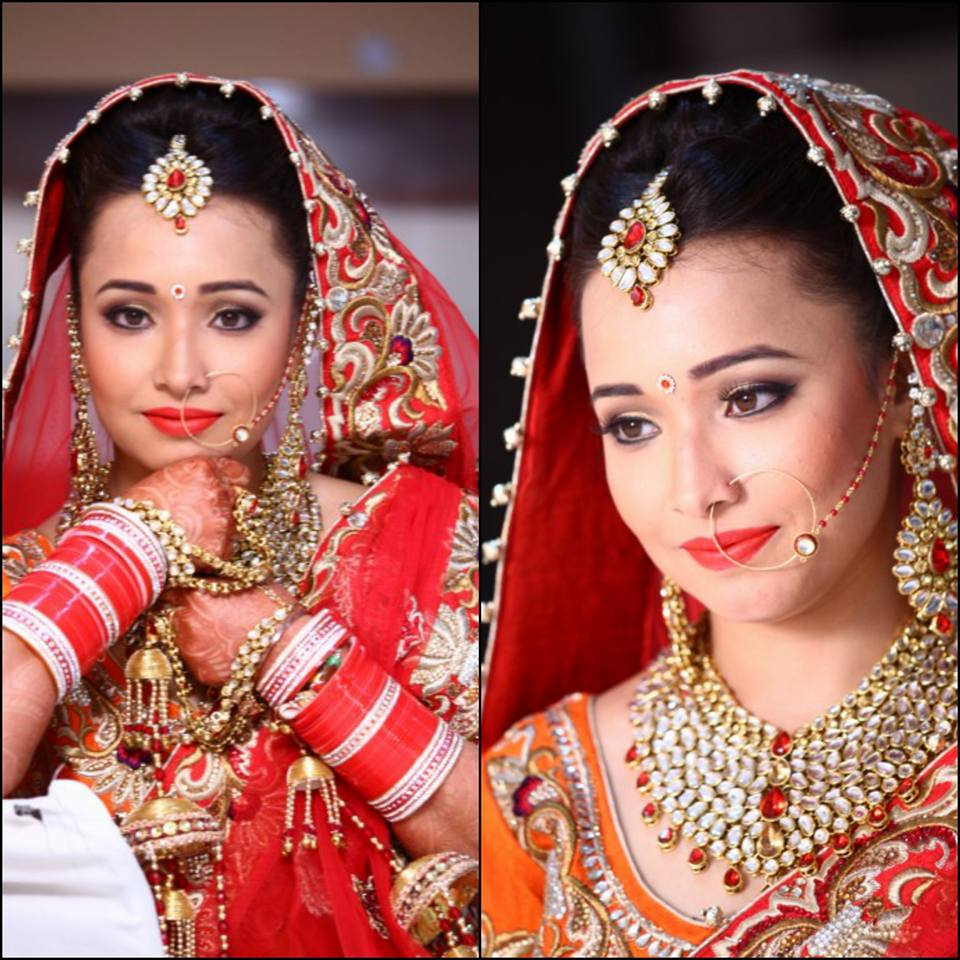 Pretty bride with pretty smile by Sanjana Jakhu Bridal-makeup | Weddings Photos & Ideas