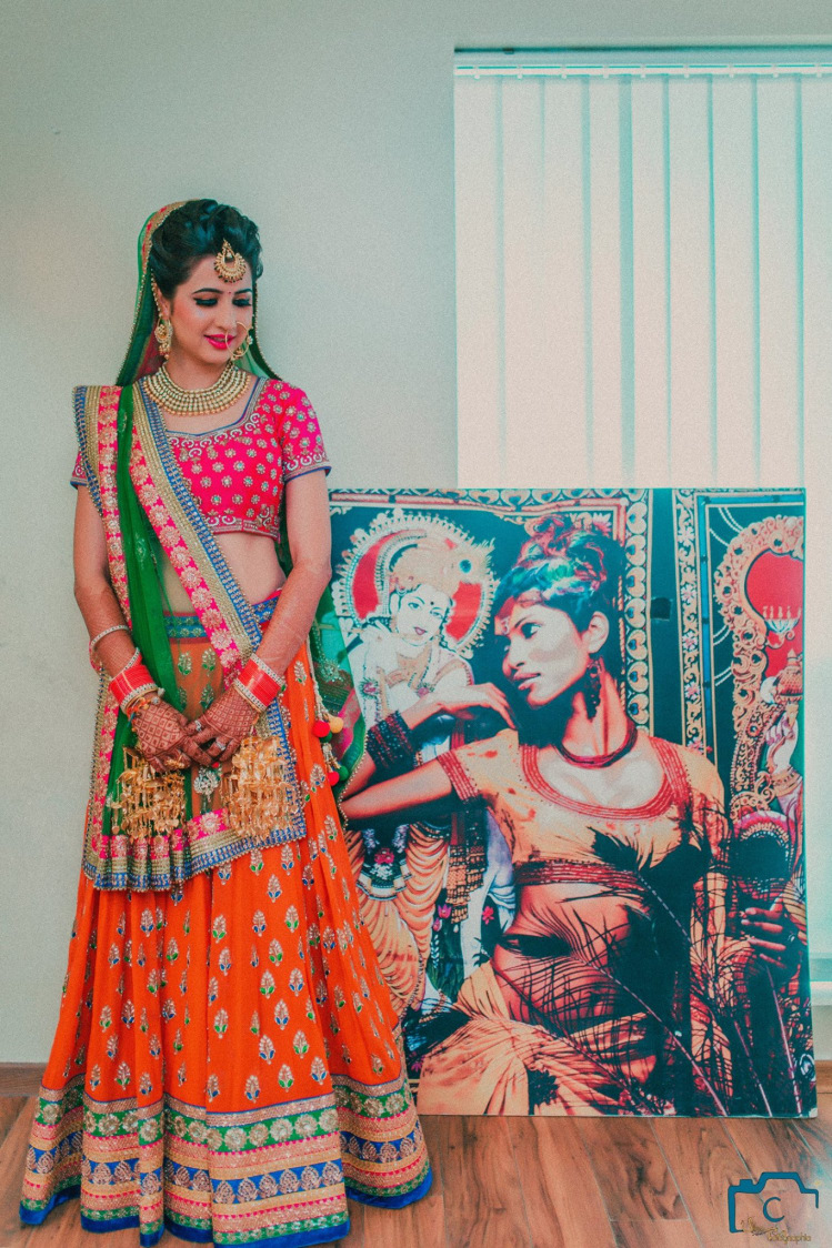 Multicolored lehenga by ULike Fotographia Wedding-photography | Weddings Photos & Ideas