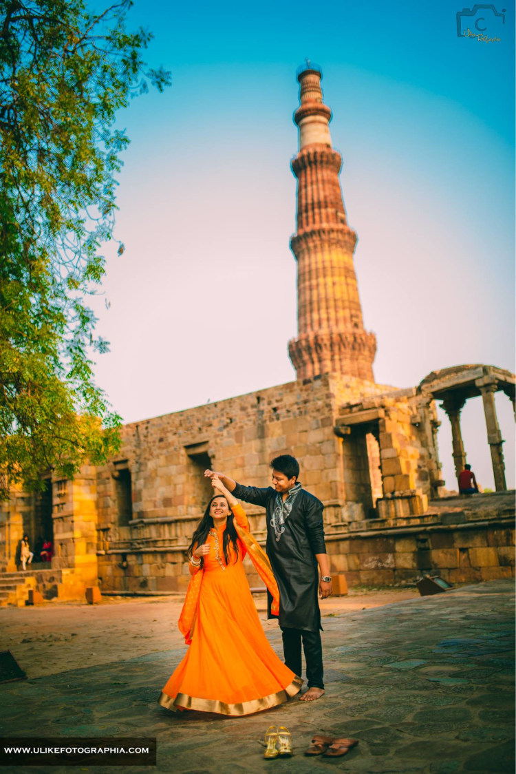 Marking the love at qutub minar by ULike Fotographia Wedding-photography | Weddings Photos & Ideas
