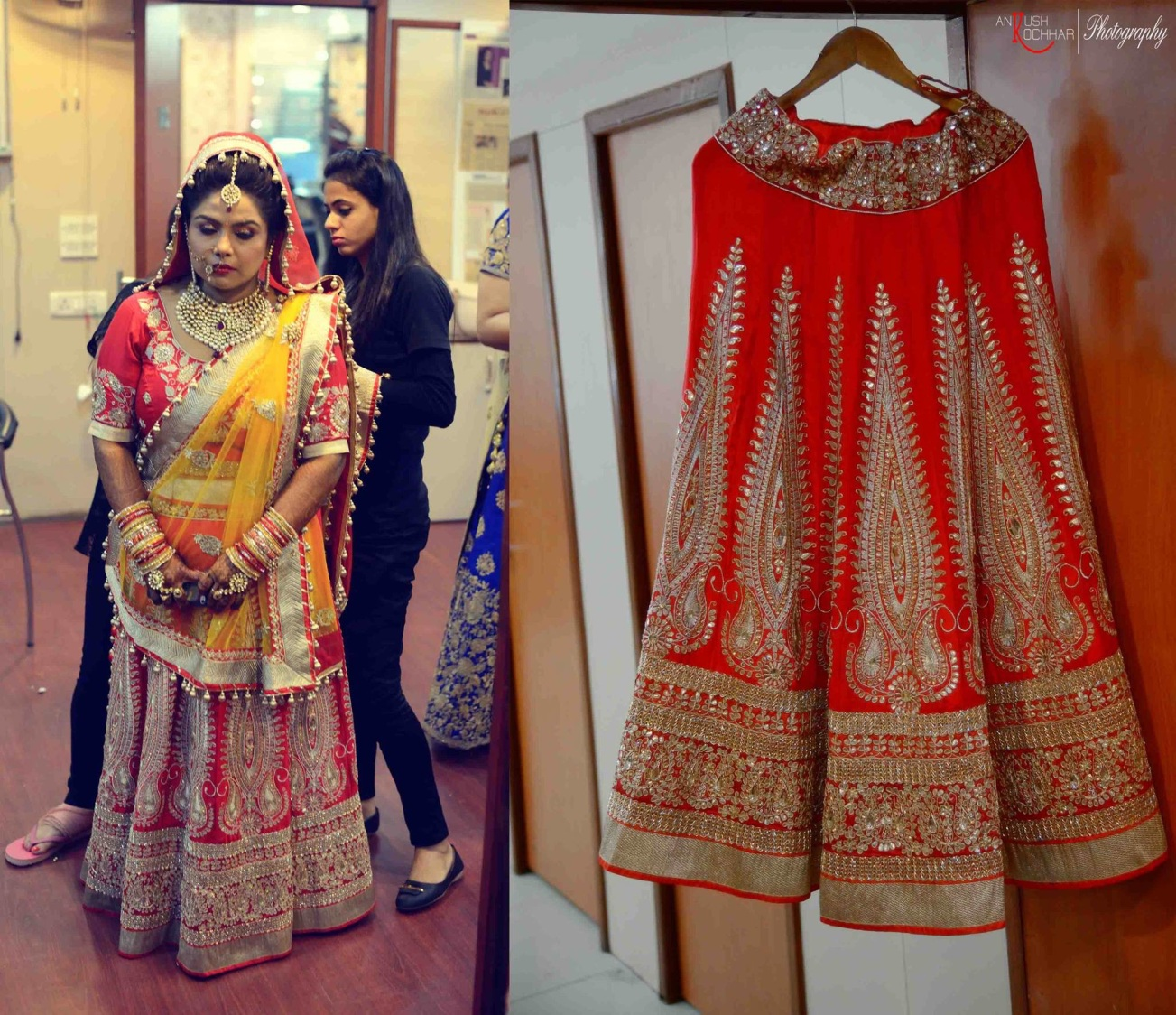 Crimson Red and Yellow Lehenga by AKfotography Wedding-photography Wedding-dresses   Weddings Photos & Ideas