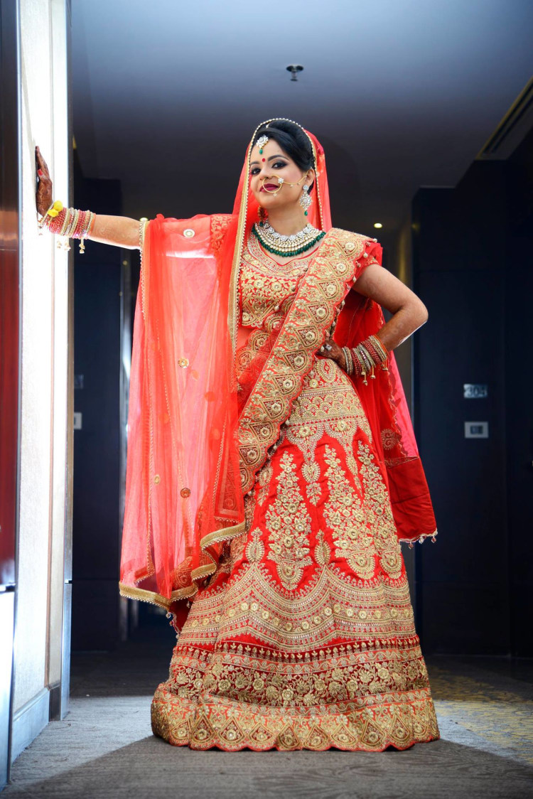Crimson Red Bridal Lehenga by AKfotography Wedding-photography | Weddings Photos & Ideas