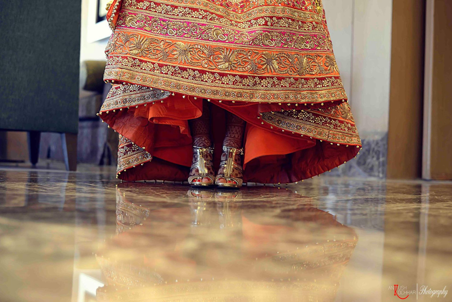 Heavy embroidered lehenga by AKfotography Wedding-photography | Weddings Photos & Ideas