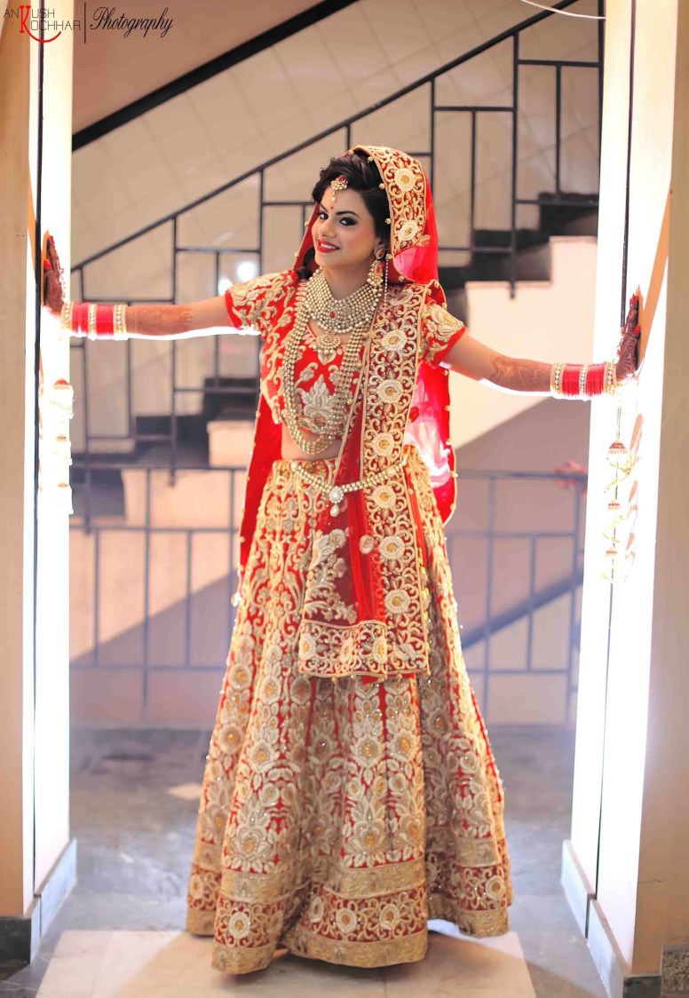 Flaunting her beautiful wedding attire by AKfotography Wedding-photography | Weddings Photos & Ideas