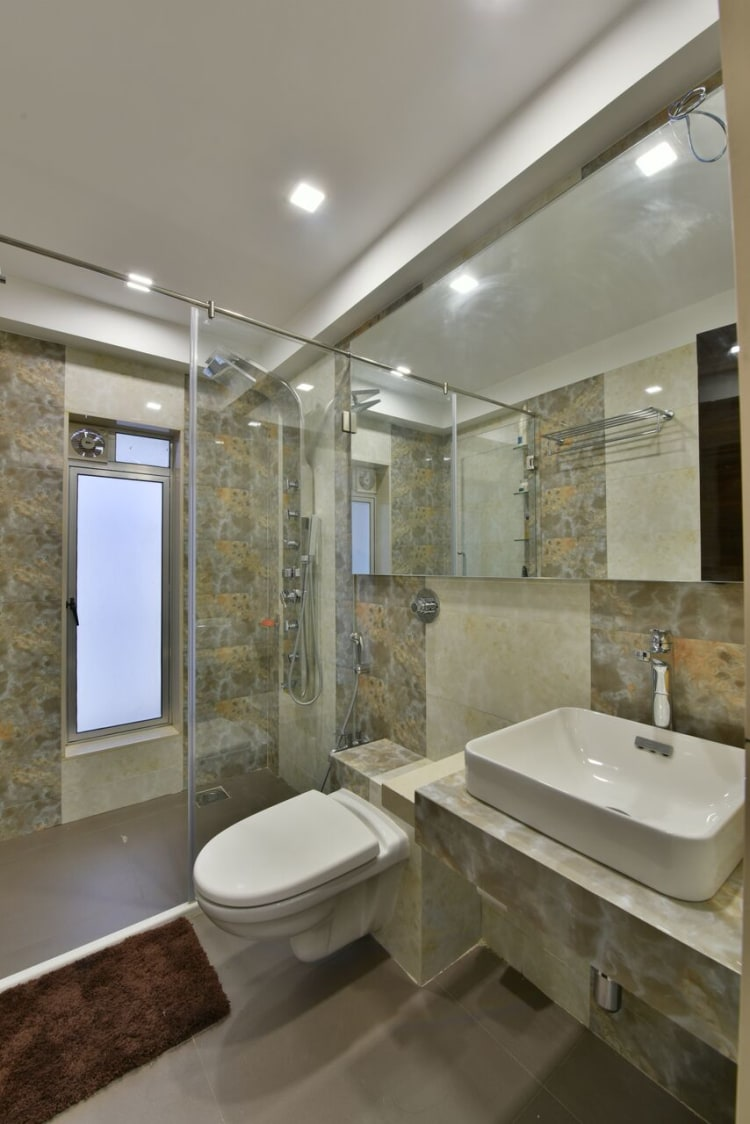 Contemporary modern bathroom decor by ARCHITECT KAUSHAL CHOUHAN Bathroom | Interior Design Photos & Ideas