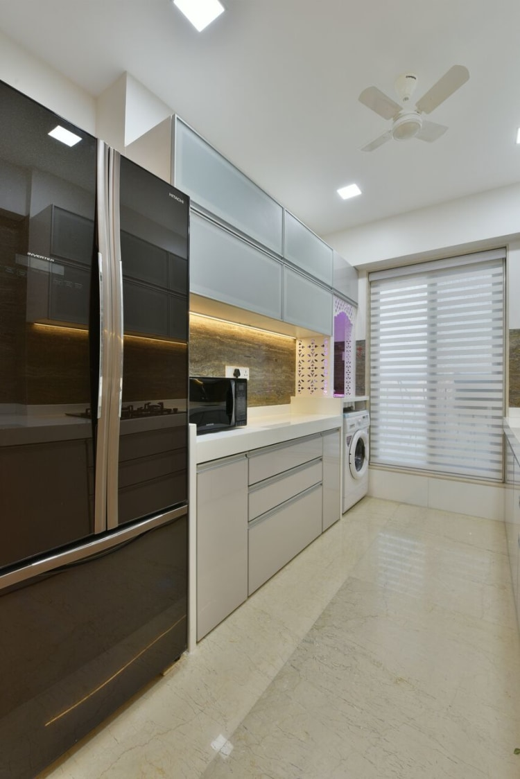 The High Gloss by ARCHITECT KAUSHAL CHOUHAN Modular-kitchen | Interior Design Photos & Ideas