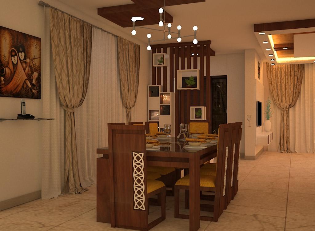 Dining Room With Modern Furniture by Megha Jain Dining-room Modern | Interior Design Photos & Ideas