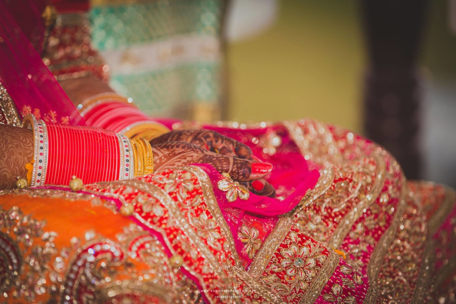 Red and white chooda by ARC Photography Wedding-photography | Weddings Photos & Ideas