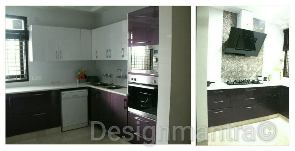 The Modular Purple Kitchen by Designmantra Modern | Interior Design Photos & Ideas