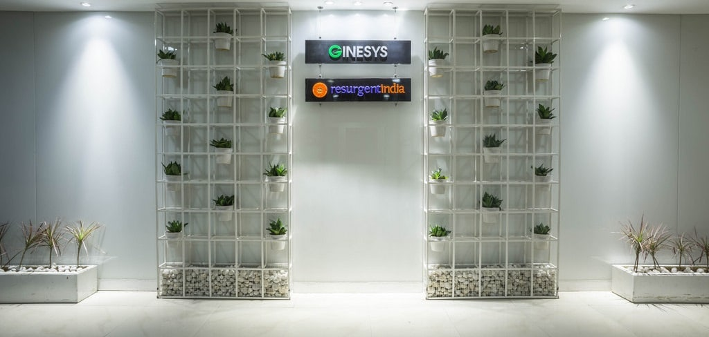 Display set at the office entrance by Every Inch Modern | Interior Design Photos & Ideas