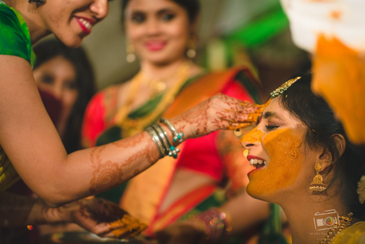 Haldi Ceremony by Minchu Studio Wedding-photography | Weddings Photos & Ideas
