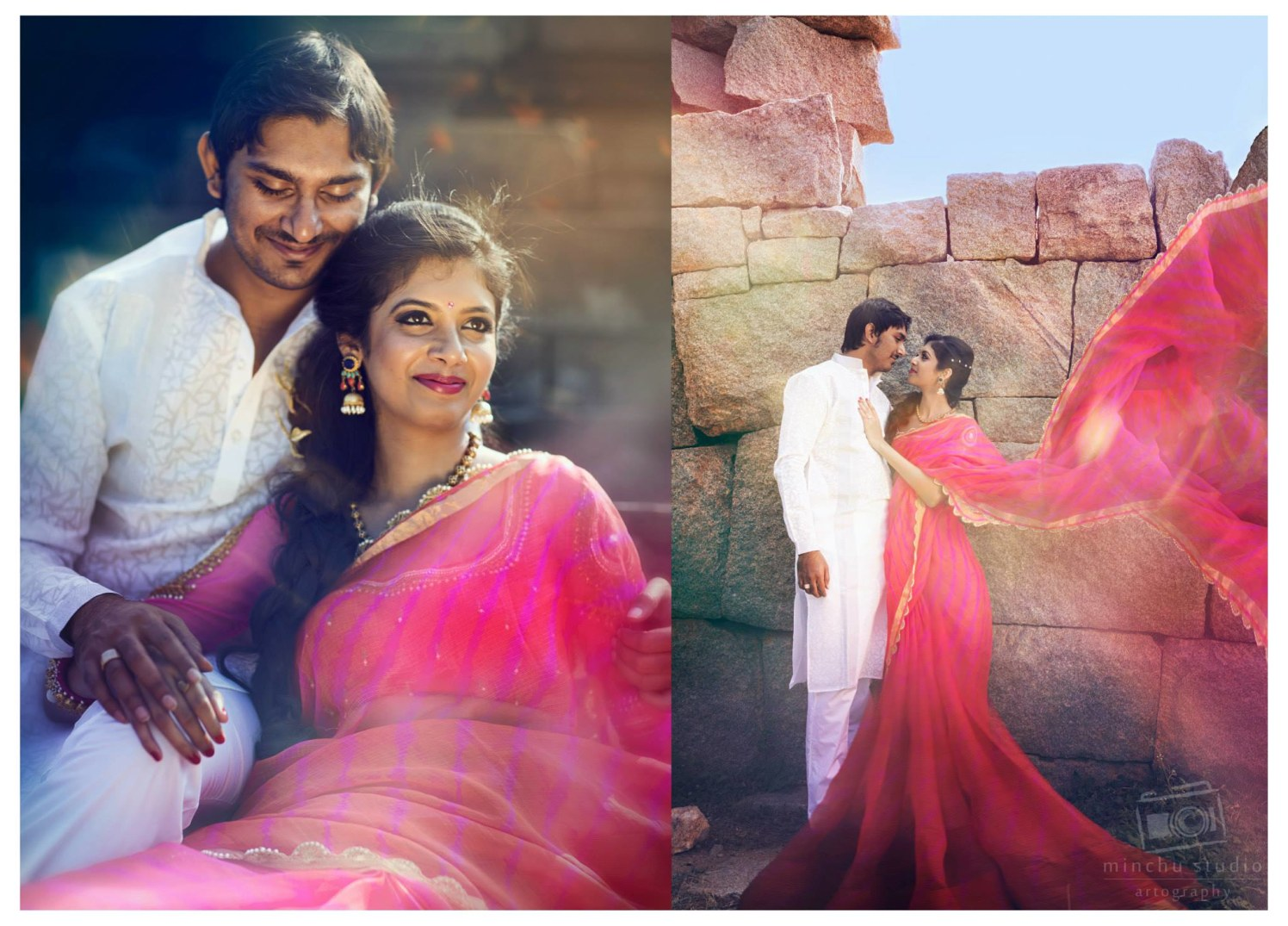 Elegant Pink Saree by Minchu Studio Wedding-photography | Weddings Photos & Ideas