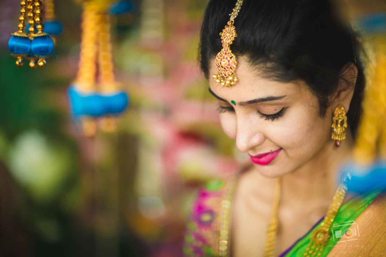 Beautiful Maang tikka by Minchu Studio Wedding-photography Bridal-jewellery-and-accessories | Weddings Photos & Ideas