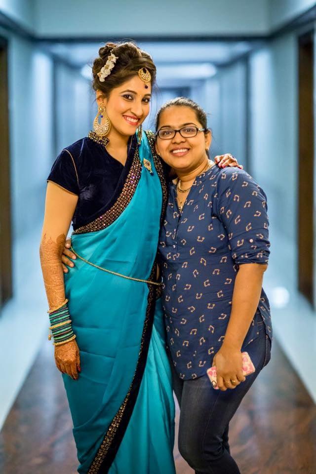 Happily posing by Saba Sayed Bridal-makeup | Weddings Photos & Ideas
