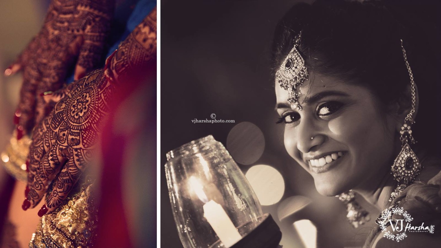 A Black and White Portrait of The Beautiful Bride by Vjharsha Photography Wedding-photography | Weddings Photos & Ideas