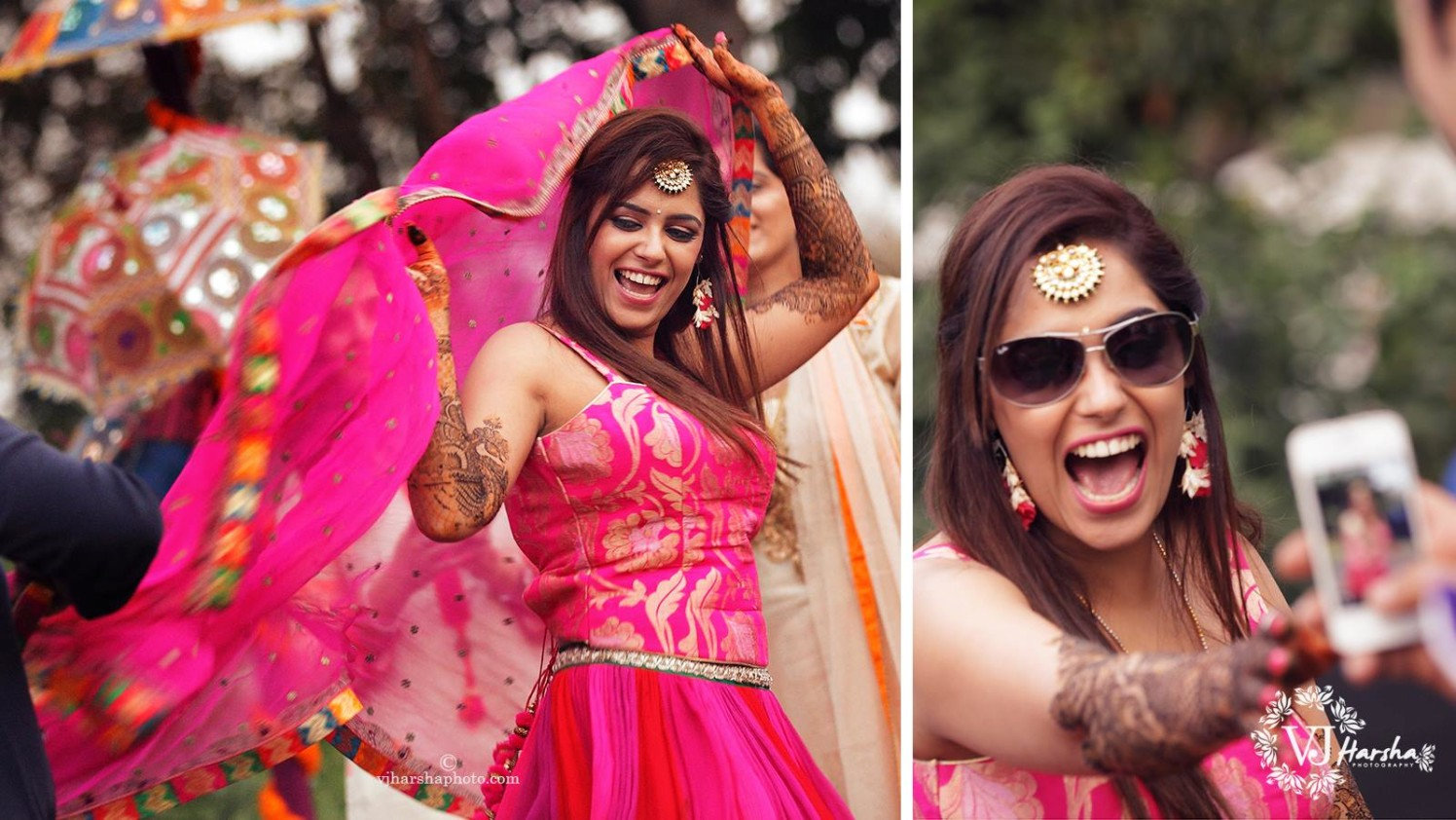 Candid Pictures of The Energetic Bride by Vjharsha Photography Wedding-photography | Weddings Photos & Ideas