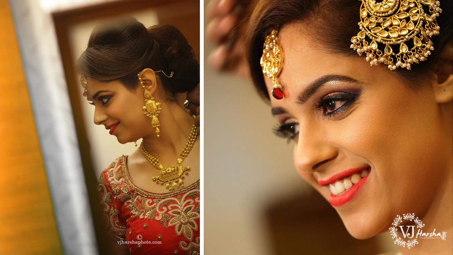 A Stunning Portrait of the Bride by Vjharsha Photography Wedding-photography Bridal-jewellery-and-accessories | Weddings Photos & Ideas