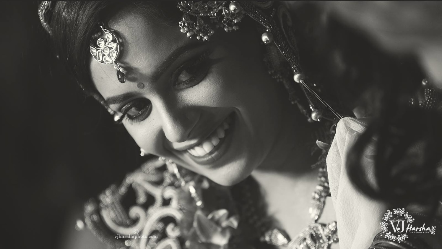A Black and White Portrait of the Bride by Vjharsha Photography Wedding-photography | Weddings Photos & Ideas