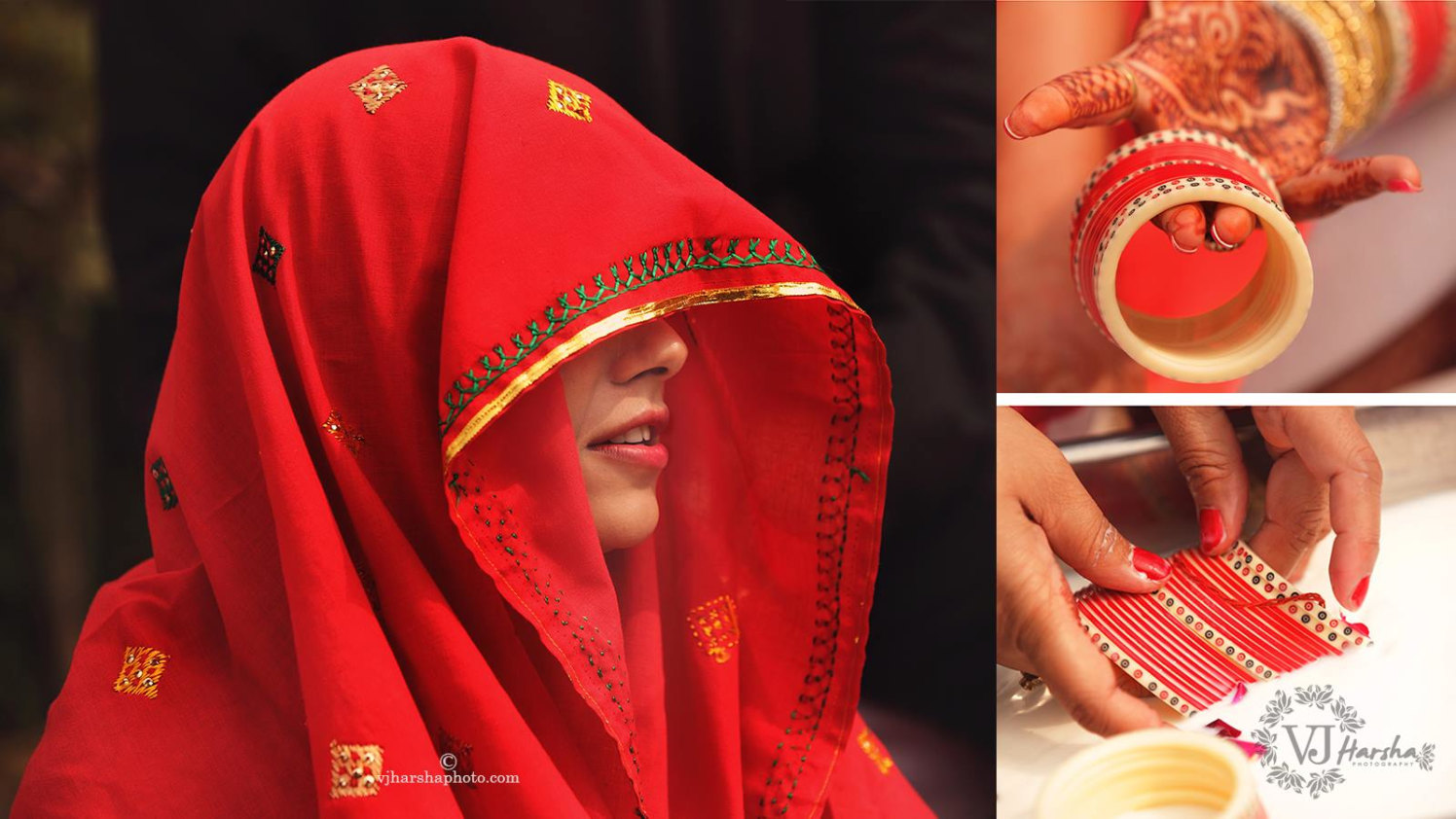 A Beautiful Portrait of the Shy Bride and her Bangles by Vjharsha Photography Wedding-photography | Weddings Photos & Ideas